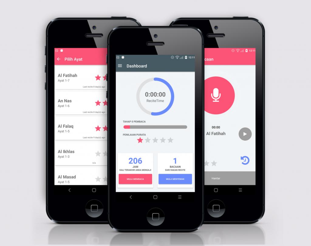 recite app, startup story